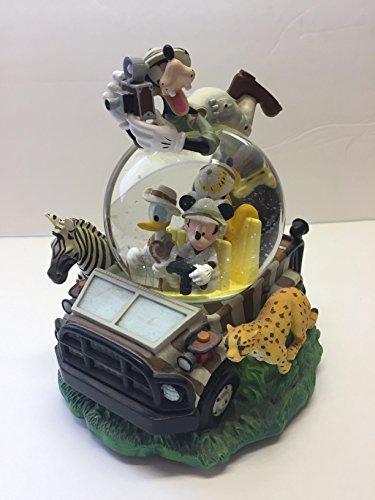 Disney Animal Kingdom Mickey on Safari Musical Snow Globe