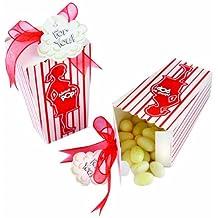"Kate Aspen ""About To Pop"" Popcorn Favor Box - Set of 24"