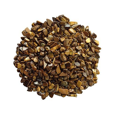 (Homankit Materials: 1lb Bulk Tumbled Gold Tigers Eye Stones Polished Natural Crystals Healing)