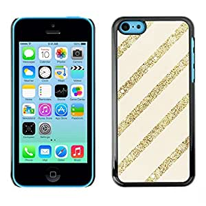 Caucho caso de Shell duro de la cubierta de accesorios de protección BY RAYDREAMMM - Apple iPhone 5C - Gold Beige Pattern Bling Christmas