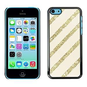 Caucho caso de Shell duro de la cubierta de accesorios de protección BY RAYDREAMMM - Apple iPhone 5C - Gold Beige Pattern Bling Christmas