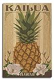 Kailua, Hawaii - Colonial Pineapple (10x15 Wood Wall Sign, Wall Decor Ready to Hang)