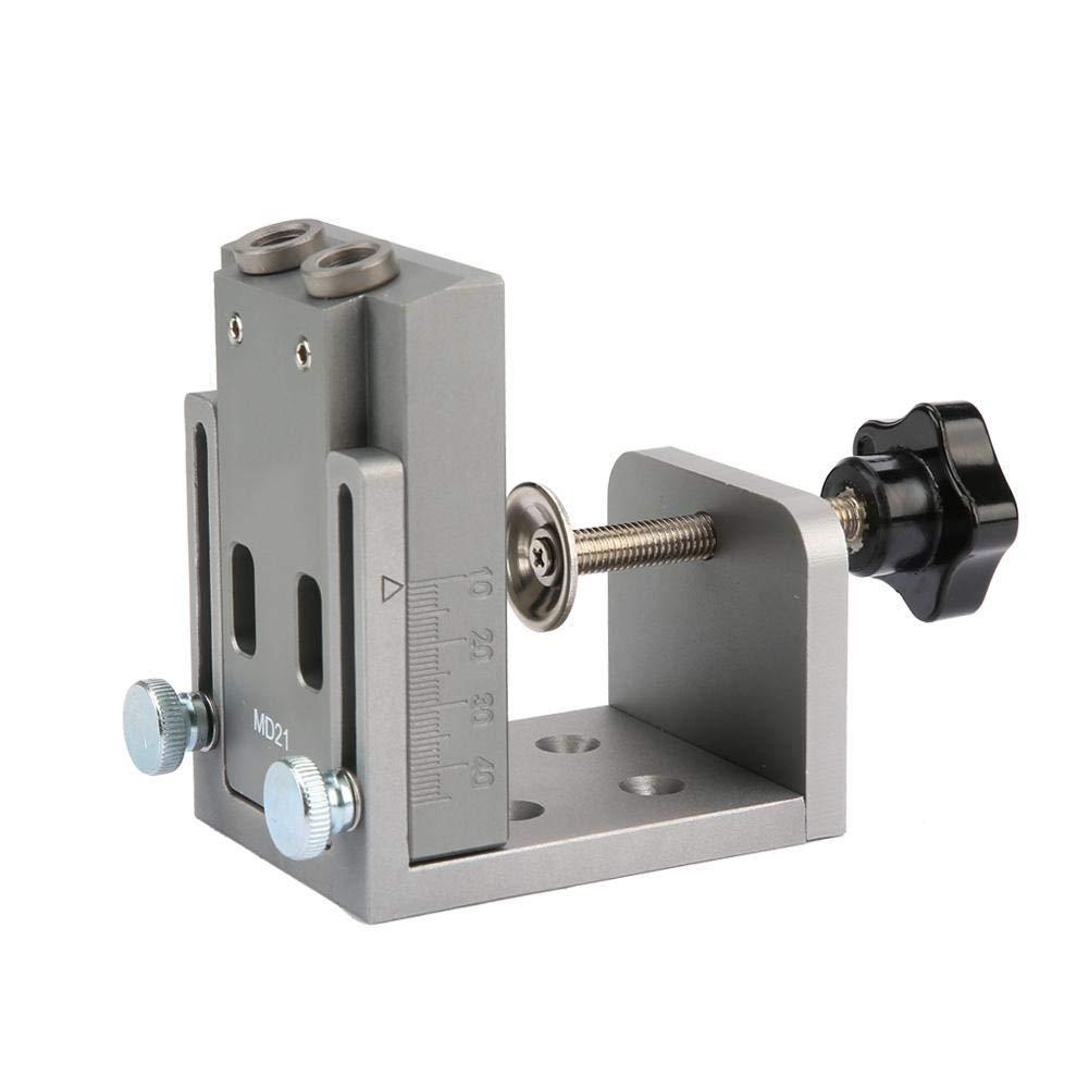 Cerniera Trapano,15 Gradi Falegname Posizionatore Strumento,Pocket Hole Jig System Drill Guide Per Falegnameria Drilling Jig