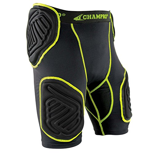 - CHAMPRO Youth Bull Rush 5-Pc Girdle, Size: XL, Charcoal, Black Inset