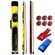CUESOUL Break/Jump and Pool Cue Stick with 2×2 Hard Pool Cue Case