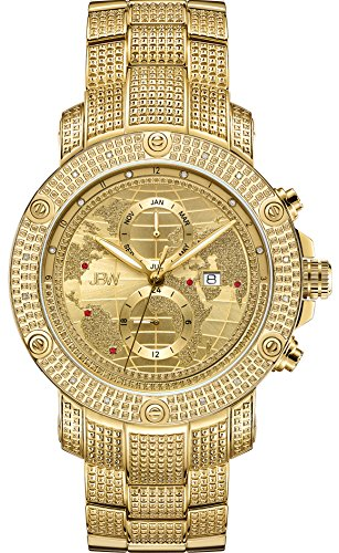 JBW Men's Veyron .18 ctw Diamond 18k Gold-Plated Stainless Steel Watch J6360C