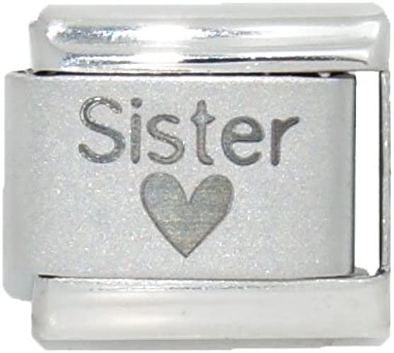Clearly Charming Big Sister Laser Italian Charm