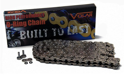 530 x 150 Links O-Ring Motorcycle Chain for Extended Swingarm - Nickel by Volar Motorsport, Inc