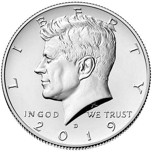 - 2019 D BU Kennedy Half Dollar Choice Uncirculated US Mint