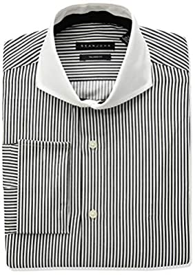 Sean John Men's Dress Shirts Regular Fit Stripe