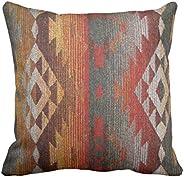 Emvency Throw Pillow Cover Western Navajo Orange and Grey Southwest Decorative Pillow Case Home Decor Square 1