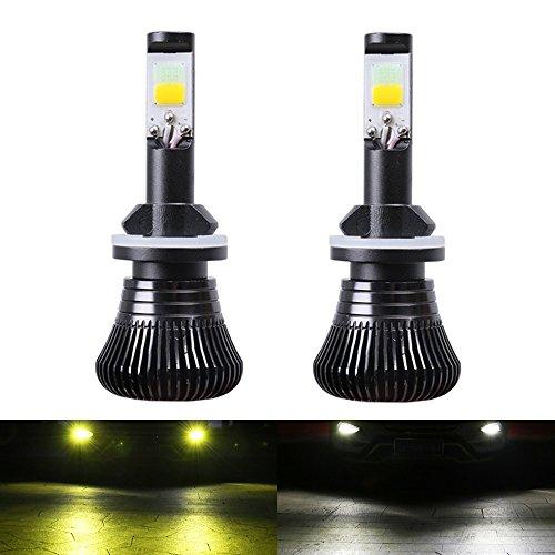 880 LED Fog Light Bulb 881 Fog Bulb LED Fog Bulb Yellow 3000K White 6000K Car Trucks Dual Colors Lamps 12V 30W Accessories Replacement Modification Bright New 2pcs【1797】 (YELLOW WHITE)