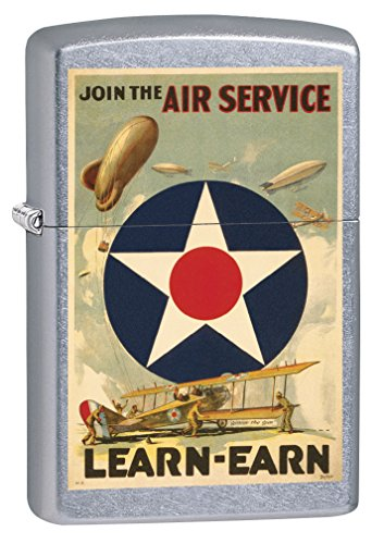 (Zippo Lighter: Military Poster, Join The Air Service - Street Chrome 79371)