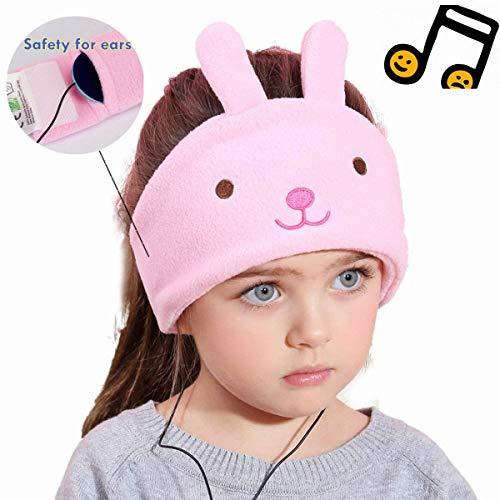 Kids Headphones,Ultra-Thin Speakers Soft Fleece Headband,Kids Safe Material, Wired On-Ear Headphones for Children Toddler Baby Sleep Headphones (Rabbit)