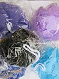 Individually Wrapped Bath Shower Sponge Loofahs Mesh Pouf Ball Scrubber Assorted Colors (100)