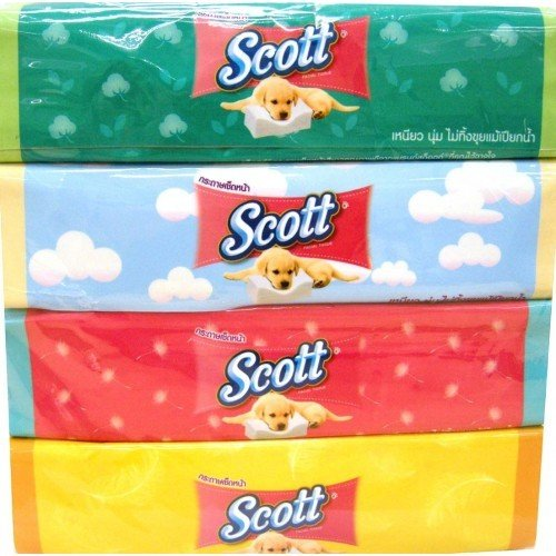 Moist Wipes Pop Up Refill (Scott CELLOX TISSUES EXTRA CARE POP-UP-4 Count,Designed may vary,Facial Tissue Soft Box)