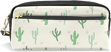 Mnsruu - Estuche para lápices, diseño de cactus verdes con lunares: Amazon.es: Oficina y papelería