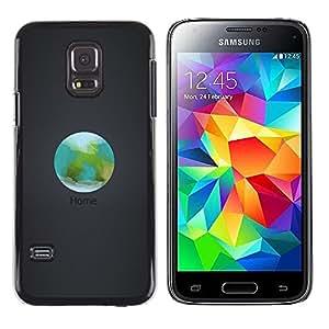 Caucho caso de Shell duro de la cubierta de accesorios de protección BY RAYDREAMMM - Samsung Galaxy S5 Mini, SM-G800 - Orbit Inicio La Tierra
