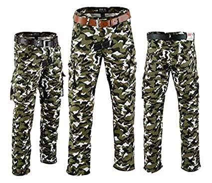 Men/'s Motorbike Moto Motorcycle Padded Armour Camo Cargo Protective Lining 6 Pocket Pant Jean Trouser