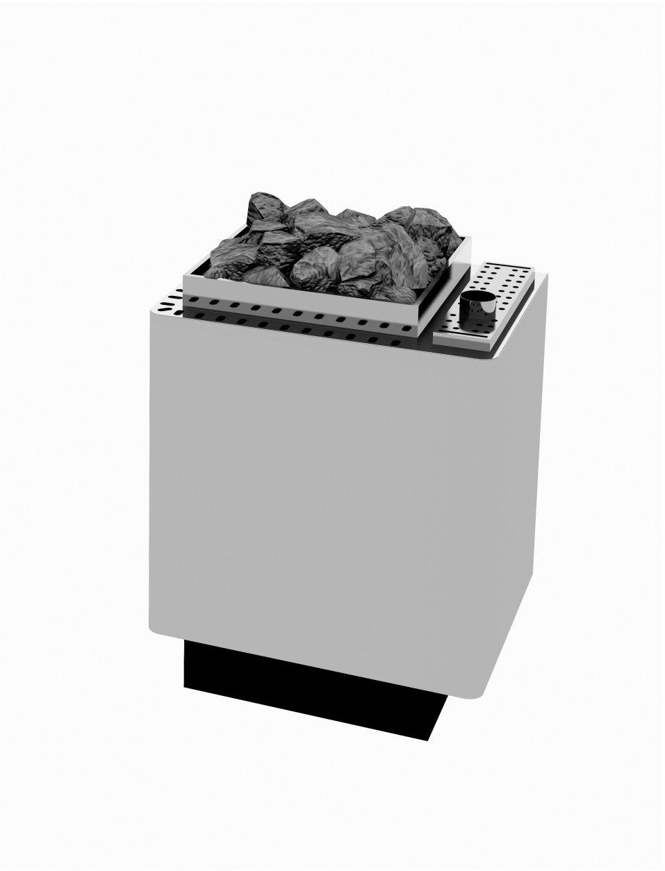 Sauna, estufa de 7,5 kW pared Modelo W de Therm tipo WK 45 (6,0 kW) con evaporador (1,5 kW revestimiento de acero inoxidable): Amazon.es: Salud y cuidado ...