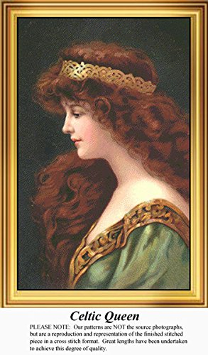 Celtic Queen, Irish Counted Cross Stitch Pattern (Pattern Only, You Provide the Floss and Fabric)
