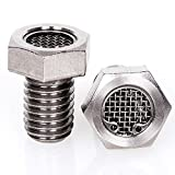 Stainless Steel Bolt Head Breathers for Harley Sportsters - Bison Motorsports