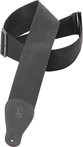 Levy's Leathers 3 Polypropylene Guitar Strap,Black