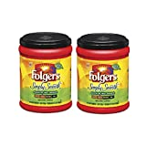 Fresh Taste of Folgers Coffee, Simply Smooth, Gentle on Your Stomach, 11.5 Oz Canister - (2 pk)