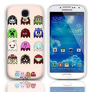 HC- Precioso Robot Design Pattern estuche rígido con paquete de 3 protectores de pantalla para Samsung Galaxy S4 mini-I9190