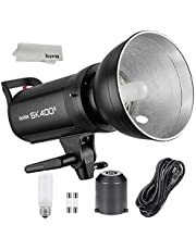 GODOX SK400II Professional Compact 400Ws Studio Flash Strobe Light Built-in Godox 2.4G Wireless X System GN65 5600K with 150W Modeling Lamp for E-Commerce Product Portrait Lifestyle Photography