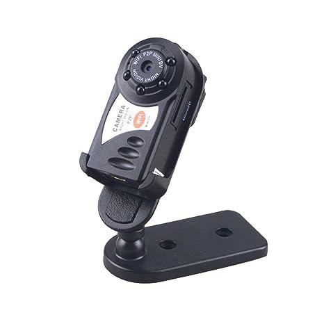 Hangteng Mini Cámara Portátil IP P2P WiFi - Mini Cámara de Video Digital Espía Con Detector de ...