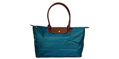 b62d5ad346 Women s Stylish Waterproof Tote Bag Nylon Travel Shoulder Beach Bags (blue)