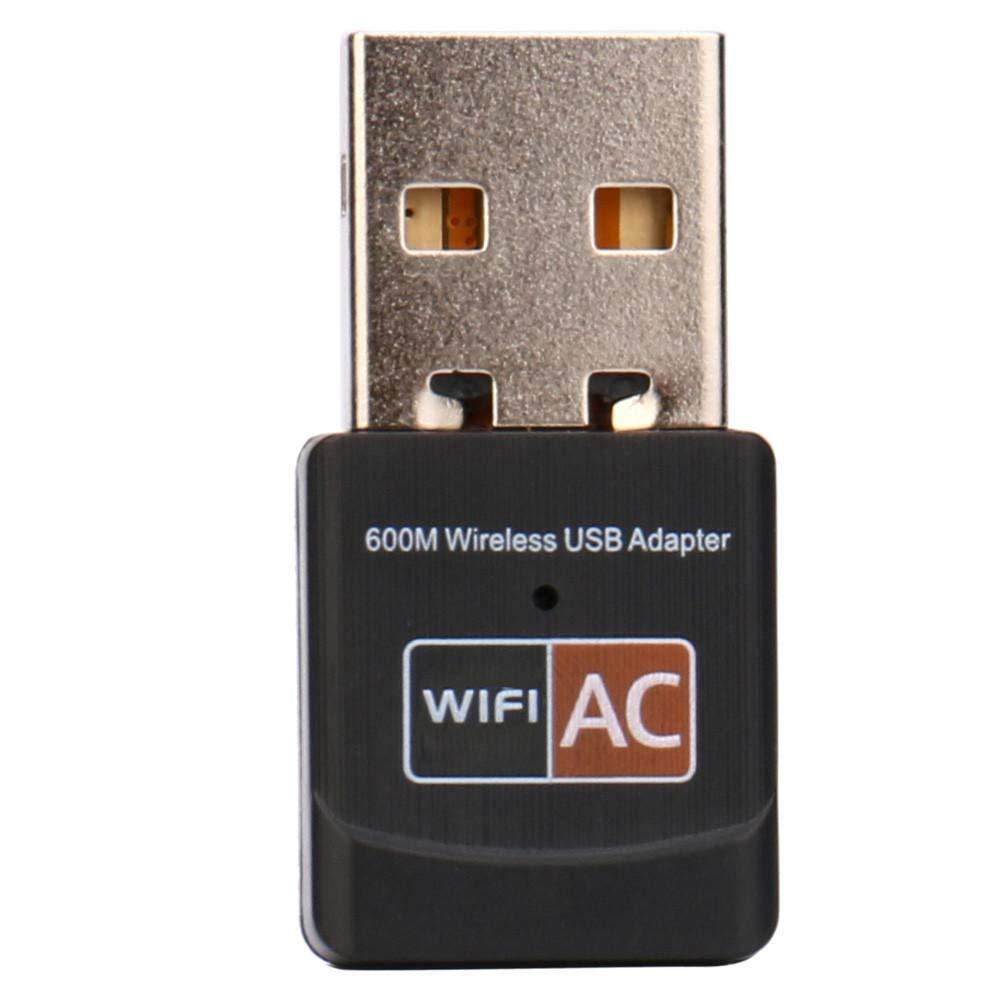 TFXHGGM Adaptateur de réseau sans fil LAN dongle AC600 à double bande de 600 Mbits/s 5Ghz 2.4Ghz USB WiFi