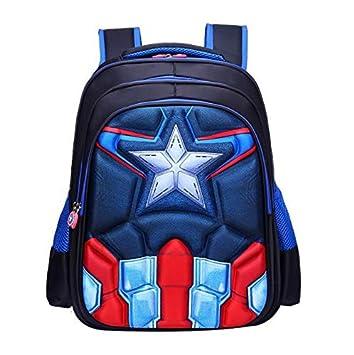 Waterproof Student Bookbag  For Boys Kids Captain America School Backpack