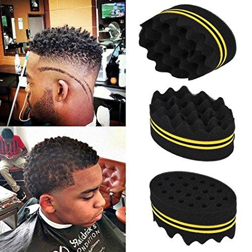 DZT1968 6pcs Dreads Afro Locs Twist Curls Coil Magic Tool Wave Barber Hair Brush Sponge