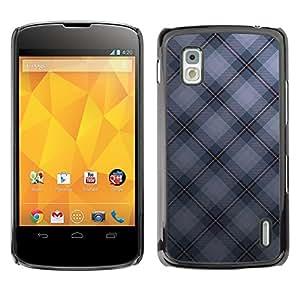 For LG Nexus 4 E960 - Texture Checkered /Caja protectora de pl???¡¯????stico duro de la cubierta Dise???¡¯???¡Ào Slim Fit/ - Super Marley Shop -