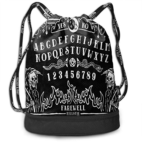 Witch Board Black Gothic Skull Pumping Rope Bags