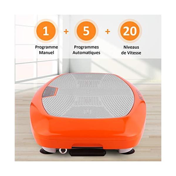 ANCHEER Fitness Plateforme Vibrante et Oscillante JF-B01C, 5 Programmes Automatiques et 3 Zones de Vibration avec Télécommande et 2 Bandes Elastiques d'Entraînements accessoires de fitness [tag]