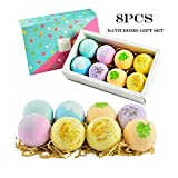 Natural Bath Bombs,Twinsmall Handmade Bubble Bath Bomb Gift Set, Rich in Essential Oil, Shea Butter, Grape Seed Oil, Fizzy Spa to Moisturize Dry Skin, Perfect Gift idea For Women (B)