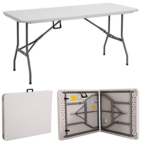 Gr8 Garden New Compact Foldable 6ft Heavy Duty Folding Catering Camping Trestle Picnic Garden Patio Bbq Party Table WLAJUK16031001