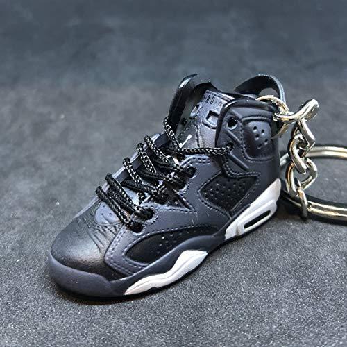 Air Jordan VI 6 Retro Cool Grey Black OG Sneakers Shoes 3D Keychain 1:6 Figure