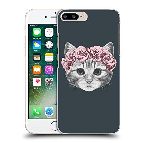 GoGoMobile Coque de Protection TPU Silicone Case pour // Q05020606 Fleur chat Arsenic // Apple iPhone 7 PLUS