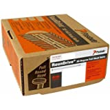 Paslode 650025 Round Head 1-1/2-Inch by .131-Inch, 30 Degree Paper Collated Heat Treated Positive Placement Nail (4,000 Per Box)