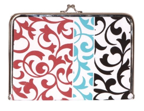 Tapestry by C.R. Gibson Tapestry Photo Clutch Album 5-Inch by 7-Inch, Flourishes Canvas