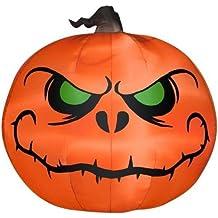 Gemmy 5' Airblown Reaper Pumpkin Halloween Inflatable