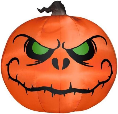 Gemmy 5' Airblown Reaper Pumpkin Halloween Inflatable (Halloween Inflatable Pumpkin)