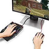(Black Switch)One-Handed RGB Mechanical Gaming