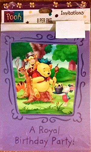 Winnie the Pooh, A Royal Birthday Party! Invitation, 8ct