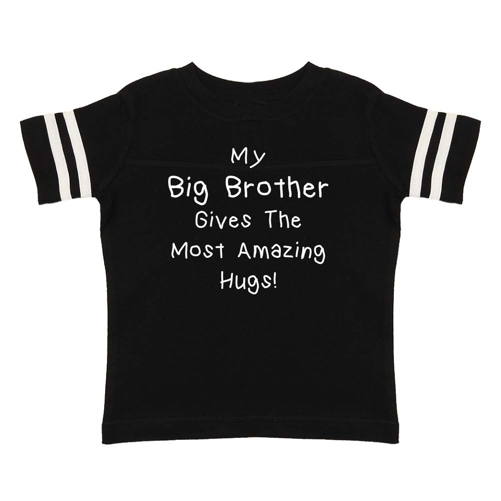 Toddler//Kids Sporty T-Shirt My Big Brother Gives The Most Amazing Hugs