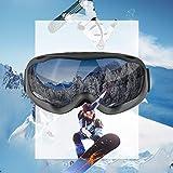 Juesi Ski Goggles - Over Glasses Ski/Snowboard Goggles for Men, Women & Youth - Anti Fog,100% UV Protection, Double-Layer Lens, Large Frame Design